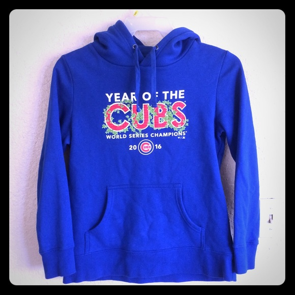 new style 7ab7f eeddd Chicago Cubs World Series hoodie men's small s